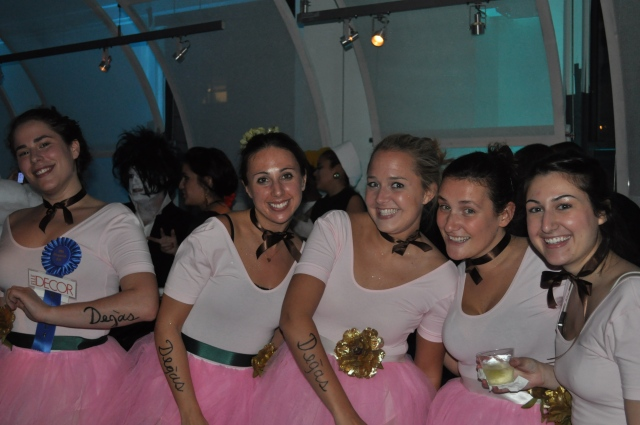 Degas Ballerina Girl Costumes at NYDC Masquerade Ball 2010