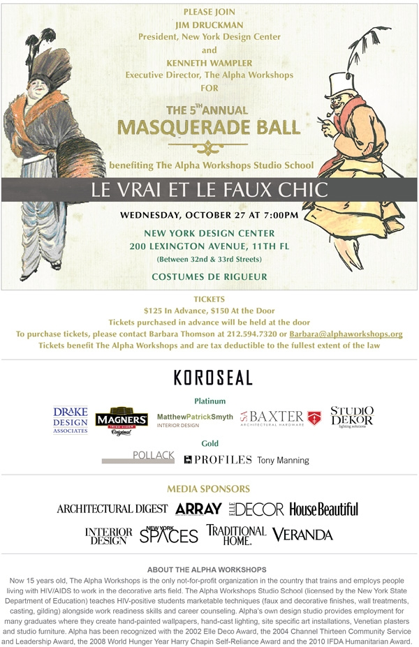 Masquerade Ball New York Design Center