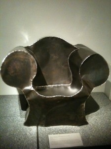 Metal chair by Ron Arad