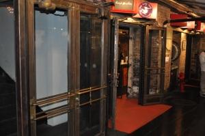 Metal framed glass doors
