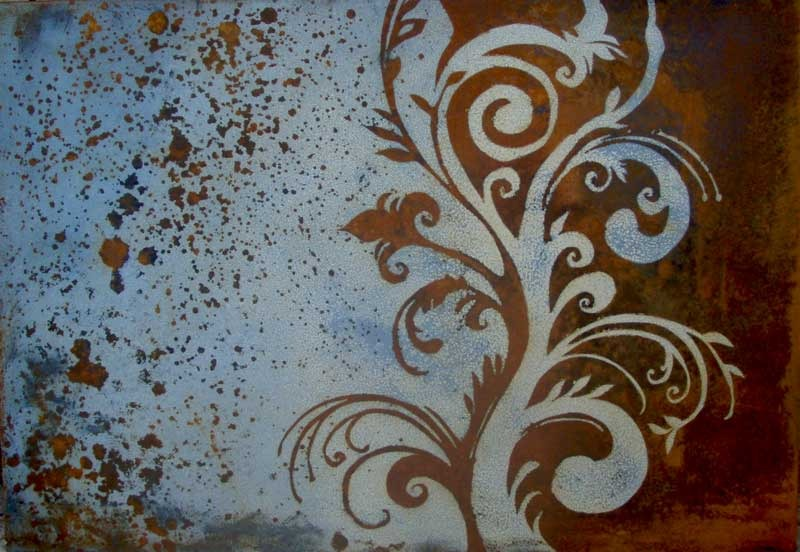 Exquisite Rust Patina Metal Artwork Art