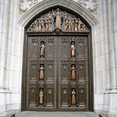 bronze doors & Very) Heavy Metal\u2026The Bronze Doors of St. Patrick\u0027s Cathedral ... Pezcame.Com