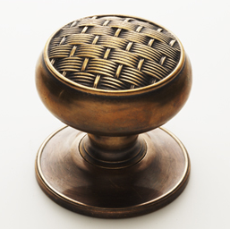 SA Baxter Basket Weave Door Knob By Randy Florke